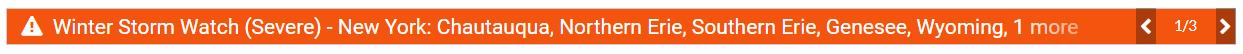 Severe Weather Alert Banner